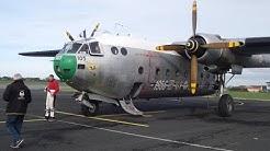 Noratlas 2501 au décollage Le Havre / Octeville sur mer