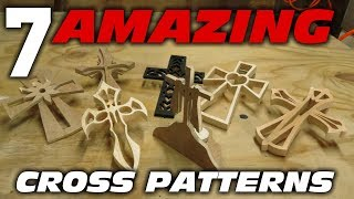 Use one of these 7 cross patterns for your next cross project. In this video I will show you some snippets of how we made 7 unique