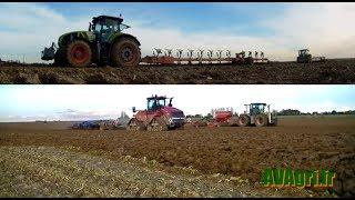 Chantier XXXL pour le semi de blé (QUADTRAC, XERION, et AXION...)