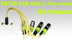 ZNTER - USB AAA Li-Polymer Batteries