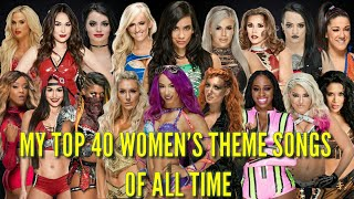 My top 40 WWE Women's theme songs of all time