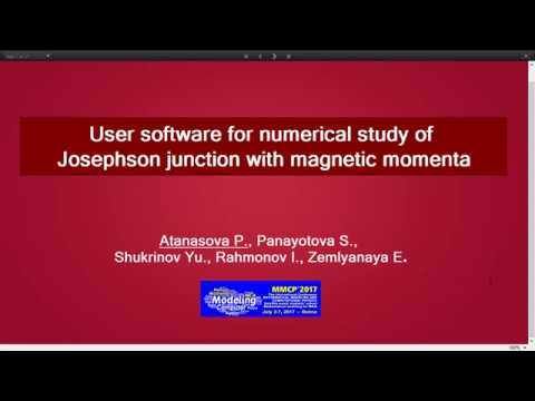 User softwer for numerical study of Josephson junctions with magnetic momenta