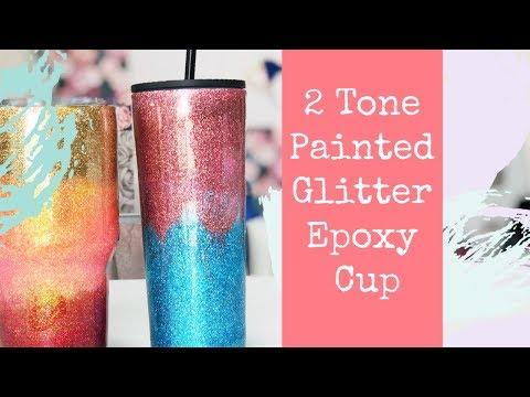 2 Toned Glitter Epoxy Cup