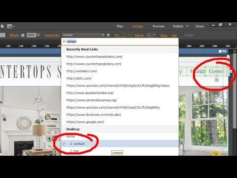 Adobe Muse - Edit a navigation Menu