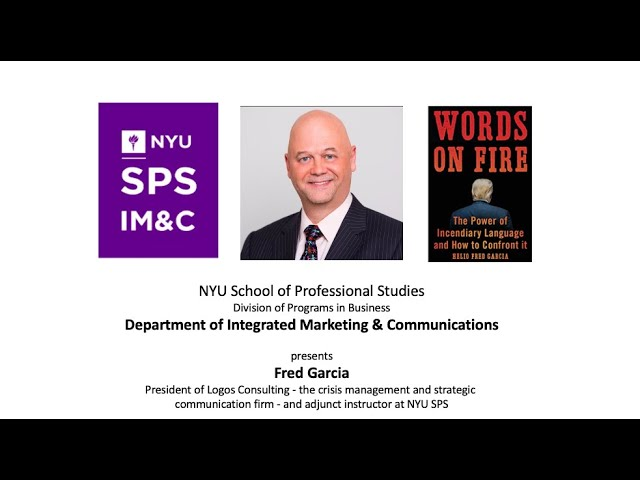 NYU School of Professional Studies: A Conversation with Helio Fred Garcia