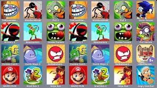 Troll Quest Internet Meme,Stick Bank Break,PVZ 2,Sonic Forces,Archery Z,Bowmasters