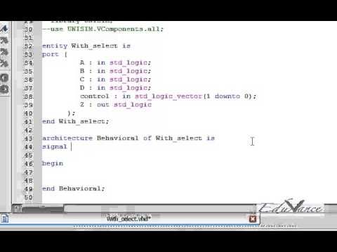 VHDL Lecture 9 Lab3 - With Select Explanation