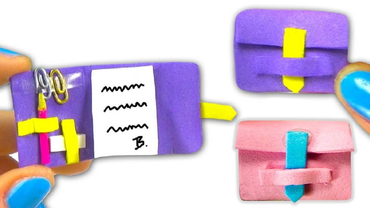 Miniature doll diary tutorial school supplies diy for Things you can make with paper clips