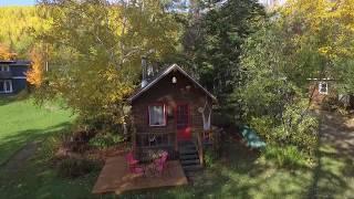 Vidéo drone Gîte la Maison Verte en Gaspésie et Chalets