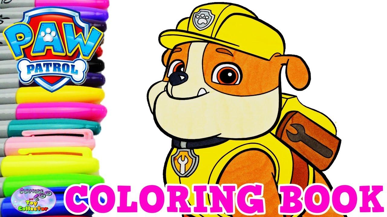 470+ Paw Patrol Coloring Book Rubble HD