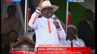 Raila Odinga happy accepts new name given to him by the Kalenjin community
