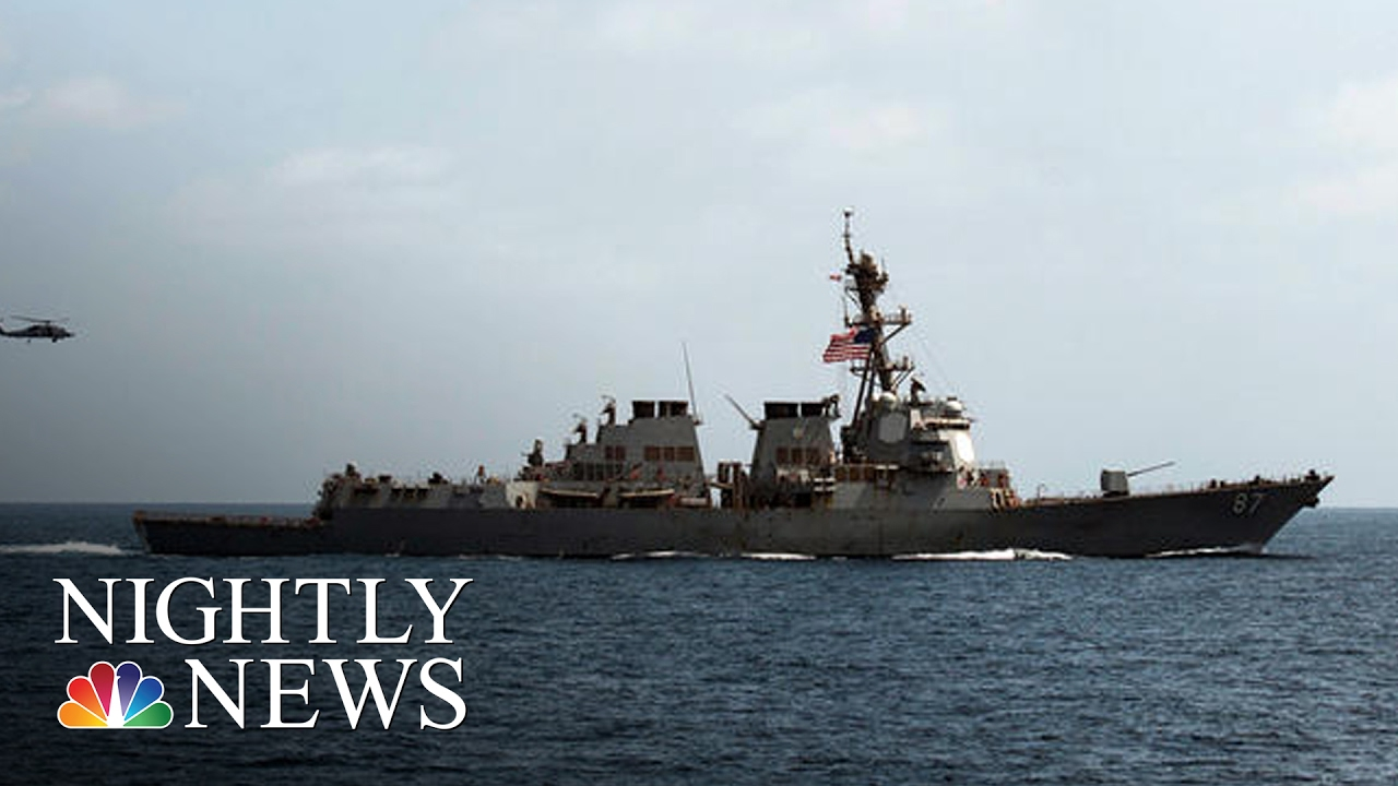 Missile Attack Targets U S  Navy Ship Off Yemen For Second Time | NBC  Nightly News