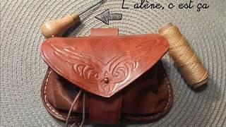 En images, le matériel minimum pour commencer le travail du cuir. Vous pouvez aussi me commander des objets sur mesure (blagues à tabac, portefeuilles, ...