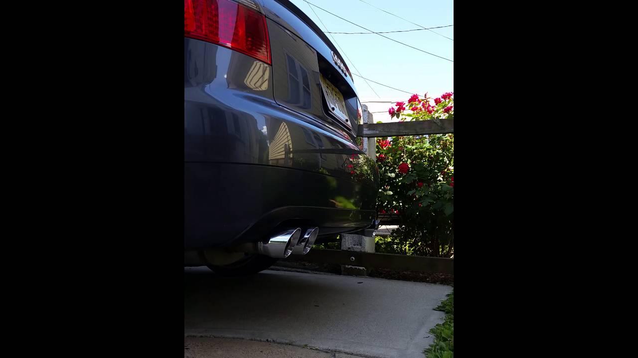 2002 AUDI A4 3.0 L magnaflow exhaust sound - YouTube
