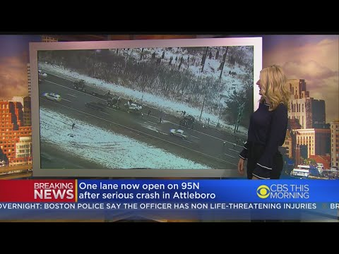 Eight Vehicles Crash On I-95 North In Attleboro