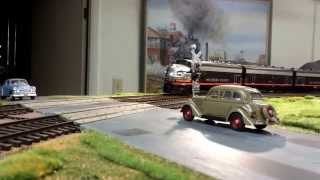 Southern Pacific F units running Mail Train sounds and DCC. Sunset Models & Brass o scale 2 rail
