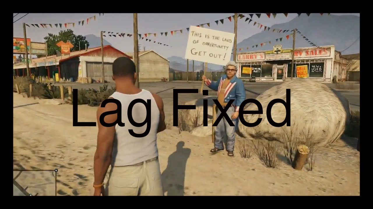 How to fix graphic lags\low fps in GTA V GTA 5 Grand Theft Auto 5 for pc  tutorial