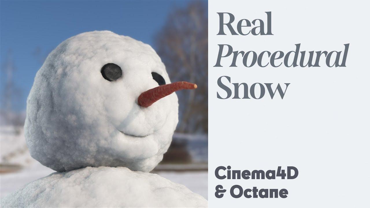 Cinema 4D Quicktip - Procedural Snow (Octane)