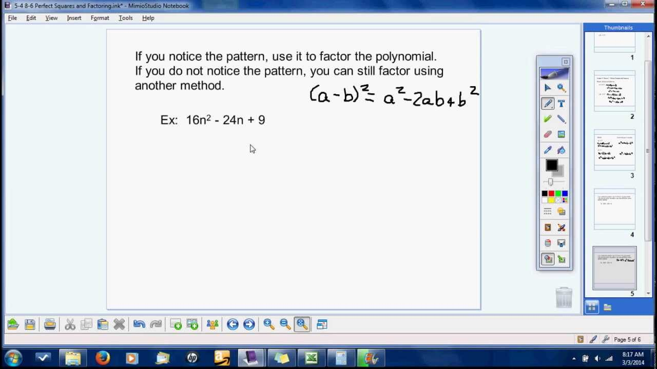 Factoring Perfect Square Trinomials, Sum Of Two Cubes And Difference Of Two  Cubes