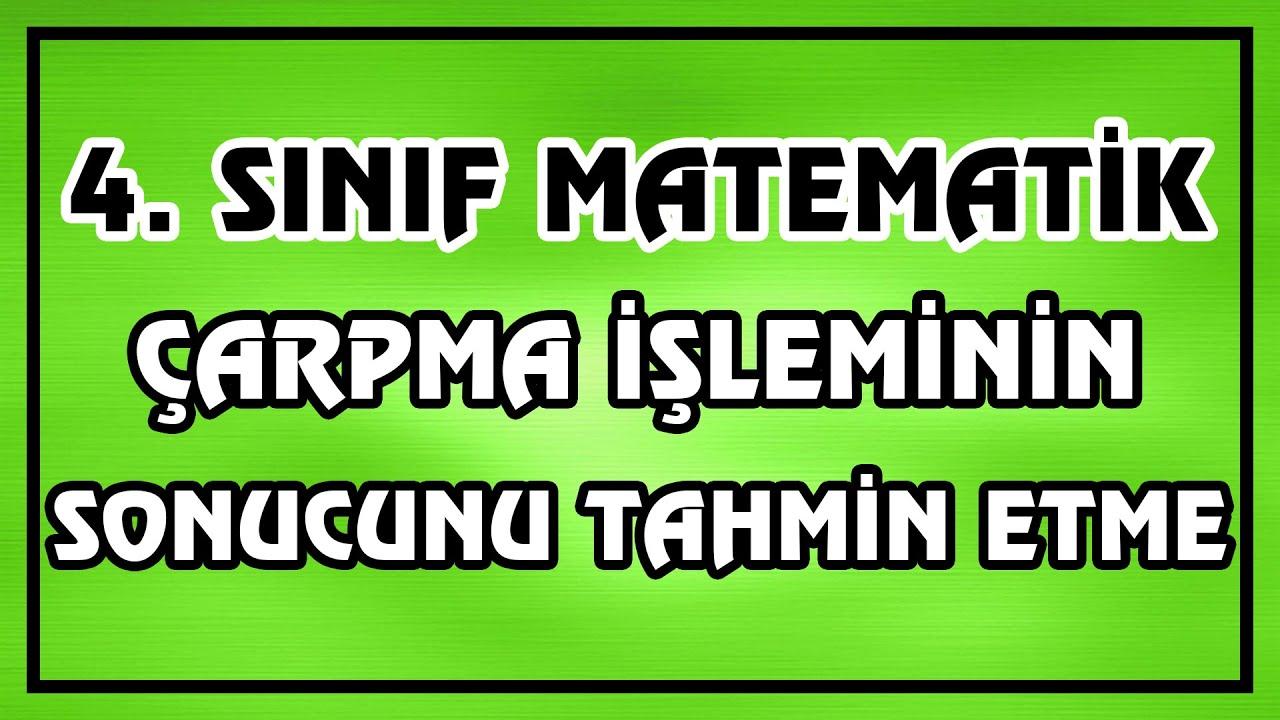 5. Sınıf Matematik   Doğal Sayılarla Çarpma- Bölme
