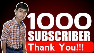 Thank You All For 1000 Subscribers