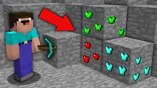 Minecraft NOOB vs PRO : NOOB MINED RAREST ARMOR ORE IN MINE! Challenge 100% trolling