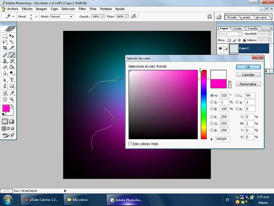 Como poner fondo de color en photoshop cs2 youtube - Como poner una mosquitera ...