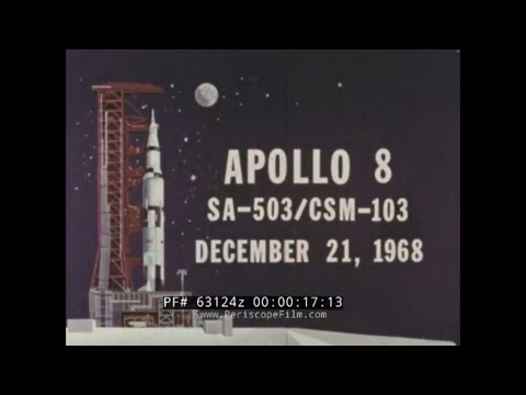 NASA APOLLO 8 MANNED SPACE FLIGHT REPORT 1968 LUNAR MISSION  63124z