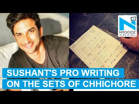 Viral: Did you know Sushant Singh Rajput was pro in mirror writing?