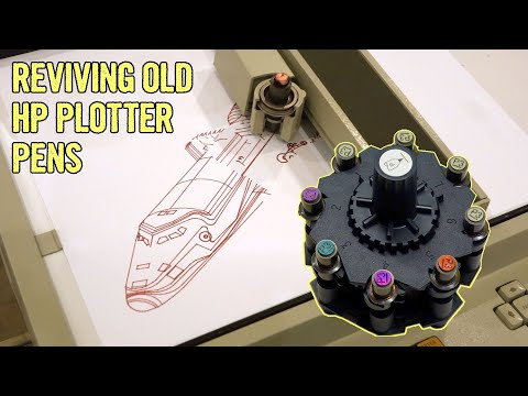 Refilling Or Replacing Vintage HP Plotter Pens