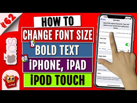 How To Make Font Size Bigger On IPhone & IPad | Change Text Size | Enable Bold Text On IPhone/iPad