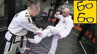 Боксер впервые пробует тхэквондо! Шаманин учит Шталя бить ногами и защищаться от ног (плюс спарринг)