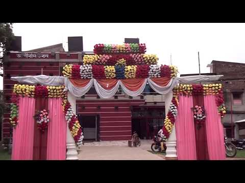 MARRIAGE WEDDING FLOWERS STAGE DECORATION .VIDEO'S FULL HD thumbnail