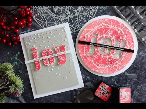 ONE stencil, TWO holiday cards