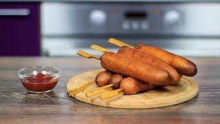 кОРН-ДОГИ Быстрый и Простой рецепт  Как приготовить корн доги дома   Easy corn dogs recipe