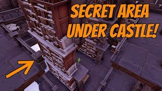 Secret Area Under Castle! Inaccessible Loot - Season 7 | Fortnite
