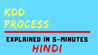 Knowledge Discovery From Data (KDD) Process (HINDI)