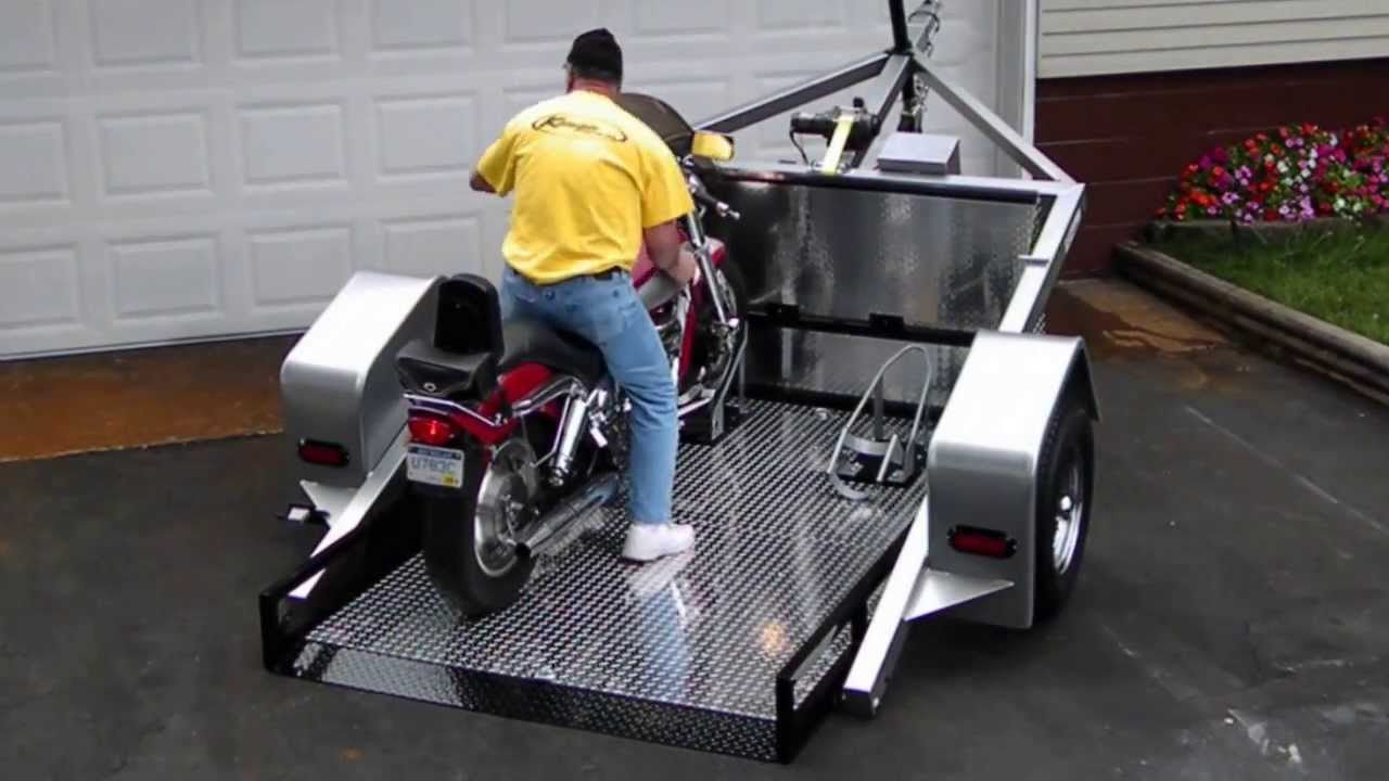 Drop Bed Easy Load Trailer - YouTube