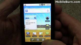 LG Optimus S (Sprint) video tour