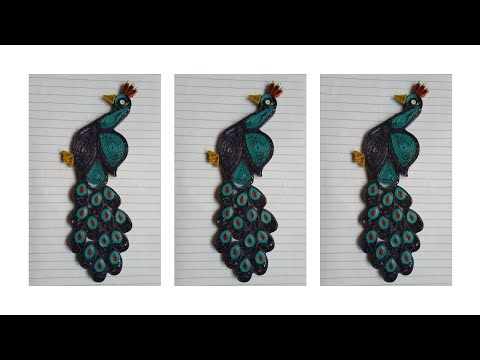 Quilling Peacock tutorial | Paper Quilling Peacock | DIY Peacock Wall Hanging | Paper Quilling |