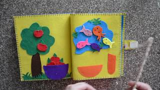 My Quiet Book, Fabric Activity Book For Children - Baby Quiet Book Ideas | Felt Book
