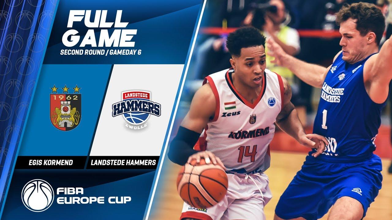 Egis Kormend v Landstede Hammers Zwolle - Full Game - FIBA Europe Cup 2019