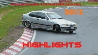 Nordschleife Touristenfahrten 2012 - Highlights (Crashes, Drifts, Fails etc.) - HD