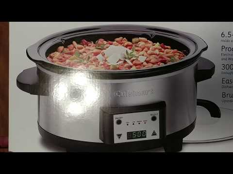 UNBOXING CUISINART PROGRAMMABLE 6.5 QUART SLOW COOKER
