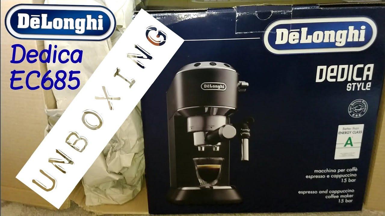 Delonghi Dedica Ec685 Espresso Machine Unboxing Youtube