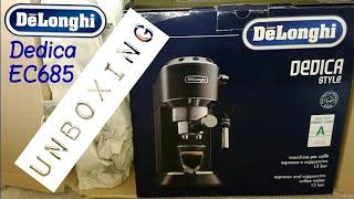 Delonghi Dedica EC685 Espresso Machine Unboxing.