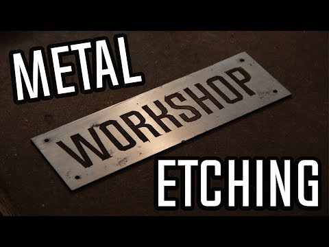 Simple Saltwater Metal Etching   How To