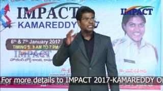 6 Success Rules by KVN Karthik at IMPACT Kamareddy  2017