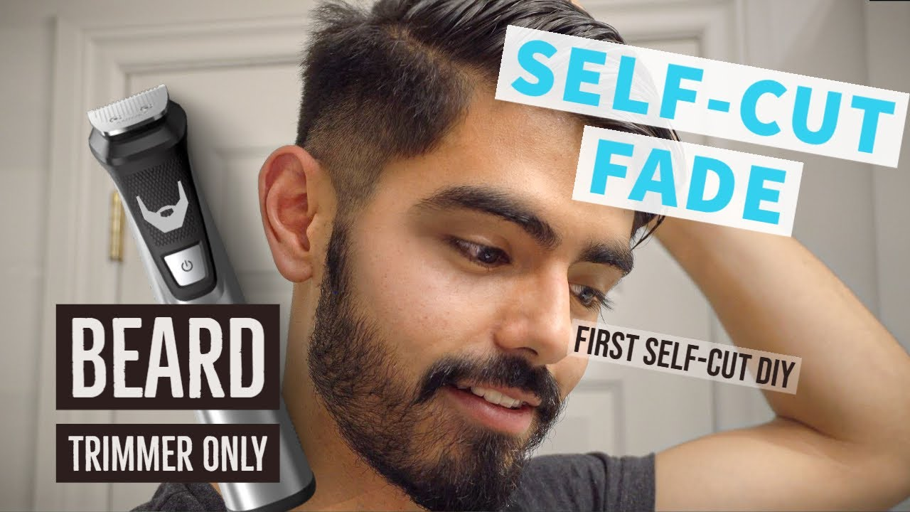 Cut your hair (FADE) with a BEARD TRIMMER  #stayin #withme
