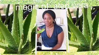 look 10 years younger by using Aloe Vera, like this  with Vit E and orange peel